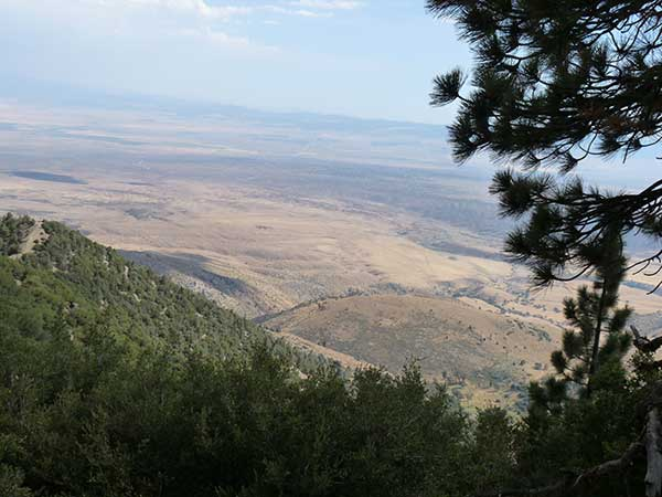 Tehachapi Valley: Near Bison Peak Pumped Storage Project Site
