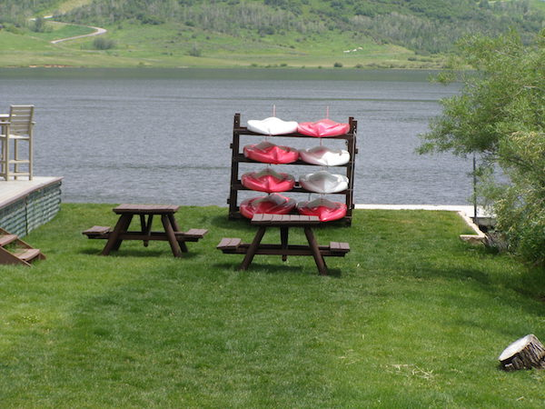 Lakeside Paddleboard Stand and Picnic Area