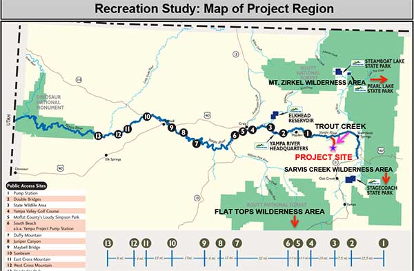 Peabody Trout Creek Reservoir - Recreation Study Map